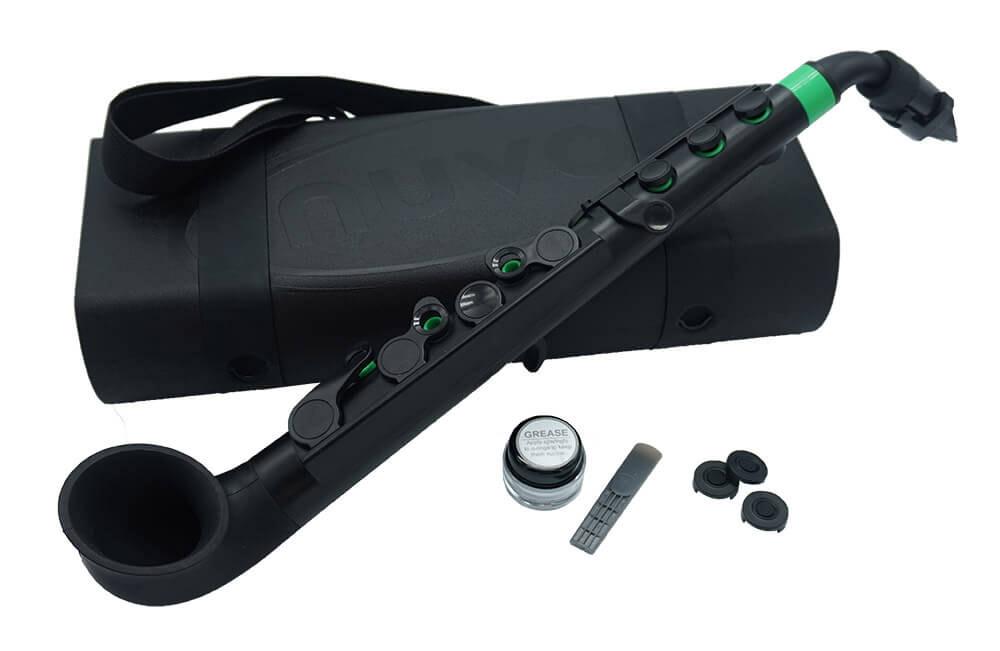 jSAX Black with Green Trim